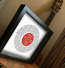 SAM SMITH - LAY ME DOWN lyrics FRAMED PRINT gift VINYL SONG Comic Relief SINGLE