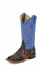 Tony Lama Womens Chocolate Century Leather San Saba Western Boots