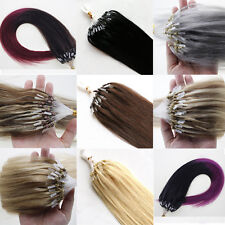 Ombre T Colors Micro Ring Bead Loop Tip Remy Human Hair Extensions 16''-26''100S