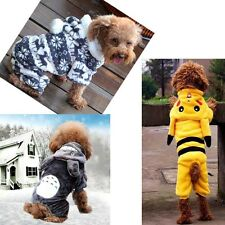 Dog Puppy Pet Cat Hoodie Jumpsuit Apparel Coat Clothes Outwear Sweater Costumes