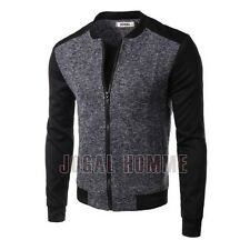 New Mens Long Sleeves Slim Fit Modern Crewneck Coat Fashion Jacket Overcoat Tops