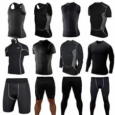 Mens  Compression Thermal Under Base Layer Tights Tops T-shirt Skin Shorts Pants