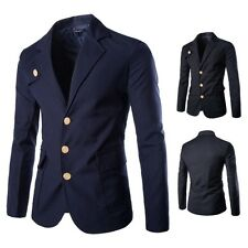 New Mens Slim Fit Long Sleeve Casual Suit Coat Fashion Business Jacket Outwear