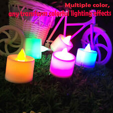 Flicker Lights Flameless LED Tealight Tea Candles Wedding Light With Six Color