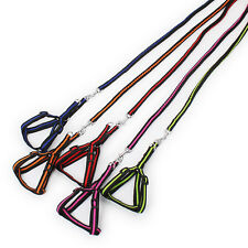 Small Dog Harness And 1.0cm Width Leash Outdoor Pet Walking Lead For Chihuahua