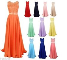 New Chiffon Formal Prom Party Wedding Bridesmaid Evening Dress Stock Size 6-22