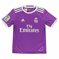 Adidas Real Madrid Away Jersey 2016 2017 Juniors Purple Football Soccer Shirt