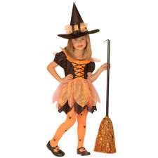 Small Witch Costume Sorceress Childrens Fancy Dress Mage Girl Halloween