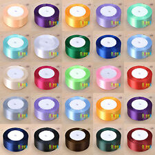 "10Rolls 25yards 1.5""(38mm) Satin Ribbon Bow Wedding Craft Sewing Decor Wholesale"