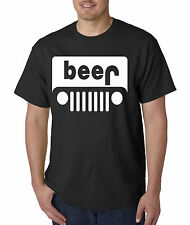 New Way 139 - Unisex T-Shirt Beer Jeep Funny Humor Drinking Party