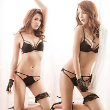 New Sexy Lace Underwear G-string Panty Lingerie Push Up Comfortable Bra Set Sale