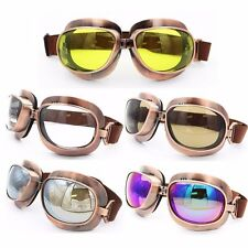 Brand Vintage Aviator Pilot Style Motorcycle Helmet Cruiser Scooter Goggles New