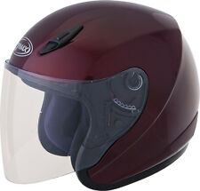 Gmax Motorcycle Helmet Open-Face GM17 Wine Red D.O.T Approved All Sizes