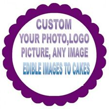 CUPCAKES CIRCLE  EDIBLE PHOTO CAKE IMAGE CUSTOM - ANY IMAGE (ENGLISH/SPANISH)
