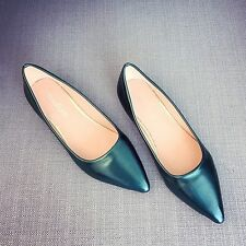 Newly Ladies Ballet Flats Charm Pointed Toe Boat Loafers Low Heel Slip-On Shoes