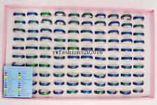 50Pcs Lots Womens Fashion CHANGE COLOR Mood Rings Wholesale Jewelry