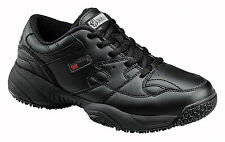 Skidbuster Womens Slip Resistant Athletic W Black Leather Shoes