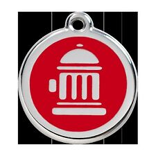 Red Dingo Stainless Steel & Enamel Fire Hydrant Dog ID Tag