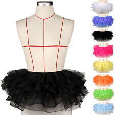 8 Layered Ladies Girls Adult Tutu Skirts Mini Ballet Princess Fancy Dress Party