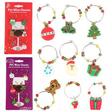 Mixed Christmas Wine Glass Charms Gift Table Decorations Tableware Ornament