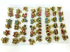 Small Cute Rhinestone Vintage Hair Barrette Claw Clip Crystal Clamps