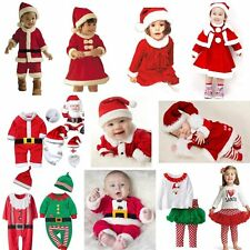 Baby Kids Boy Girl First Christmas Xmas Santa Costume Dress Outfit Clothes Party