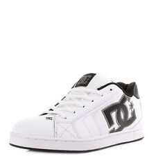Mens DC Net White Battleship White Casual Leather Skate Shoes Shu Size