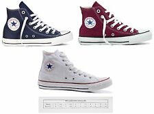 NEW UNISEX CONVERSE HI TOP TRAINERS LACE UP STYLE IN NAVY MAROON WHITE SNEAKERS