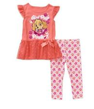 Girls PAW PATROL Skye Tunic Top & Leggings Outfit SIZE 3T 4T 5T NWT Coral Pup