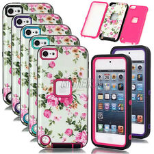 Peony Floral High Impact Rugged Hybrid Shockproof Cover Case For iPod Touch 5 6