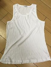 NWT James Perse Standard White Rib Tank Top MXSR3854- sz 2 3 4 men's new