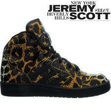 Adidas JS Instinct Leopard Unisex-High-top-Sneakers Jeremy Scott smooth leather