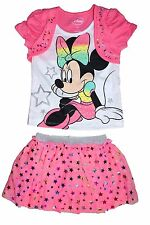 Disney Minnie Mouse Toddler Faux Shrug T-Shirt & Mesh Skirt