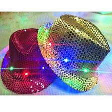 Hot Sequin Fedora Hat LED Michael Jackson Style 20's Gangster Fancy Party Club*