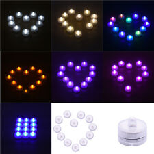 Round Waterproof Electronic Candle *12 Charged Candlelight Dinner Best Choice