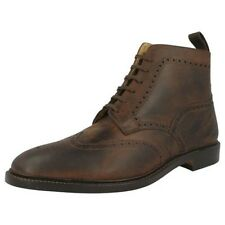 Mens Loake Distressed Leather Smart Brogue Boots Banks