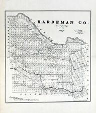 1891 Farm Line Map of Hardeman County Texas