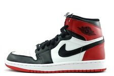 2013 Nike Air Jordan Retro 1 OG HIGH Black Toe 555088-184 Red White Chicago