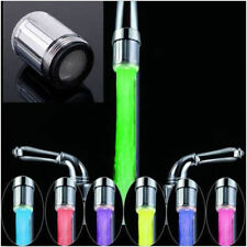 NEW LED Water Faucet Stream Light Changing Glow Shower Stream Tap + Faucet GK