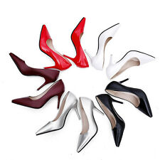 Fashion Womens Shoes Sexy Stiletto High Heels Pointed-toe Pure Color Work Pumps