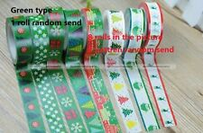 10m CHRISTMAS XMAS Paper Washi Tape Masking Adhesive Roll Decorative Card Craft