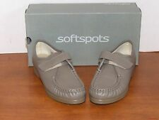 Soft Spots Angie Taupe Leather Loafers Shoes