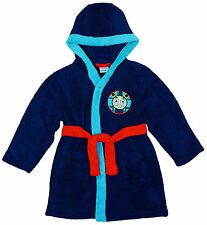 Boys Dressing Gown Hooded Thomas The Tank Engine Bathrobe 12 Months to 5 Years