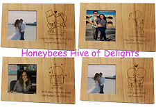 PERSONALISED Engraved WOODEN Photo Picture Frame GIFT Idea for the Home Decor