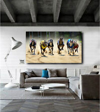 Greyhounds Racing Dogs Greyhound Dog Canvas Art Poster Print Home Wall Decor