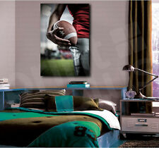 American Football Sportsman Close Up Canvas Art Poster Print Home Wall Decor