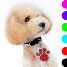 Cute Animal Dog Cat Pet Paw Print Stainless Steel Pendant Necklace Charm Tag
