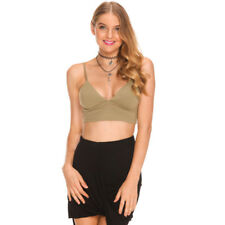 Ava And Ever The Gomez Crop Top in Green