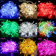 100/200 LED Fairy String Light Lamp Bulb Party Christmas Xmas Tree Home Decor