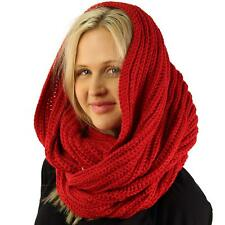 Unisex Thick Chunky Warm Pullover Knit Wide Loop Infinity Hood Cowl Scarf